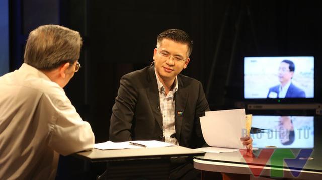 BTV Quang Minh trong buổi ghi hình thử (Ảnh: VTV News)
