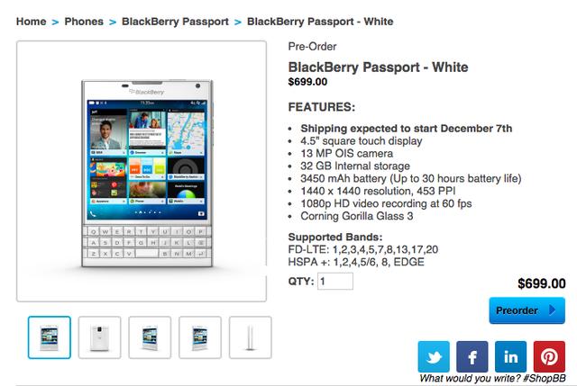 Phiên bản màu trắng của dòng sản phẩm BlackBerry luôn được người dùng mong chờ