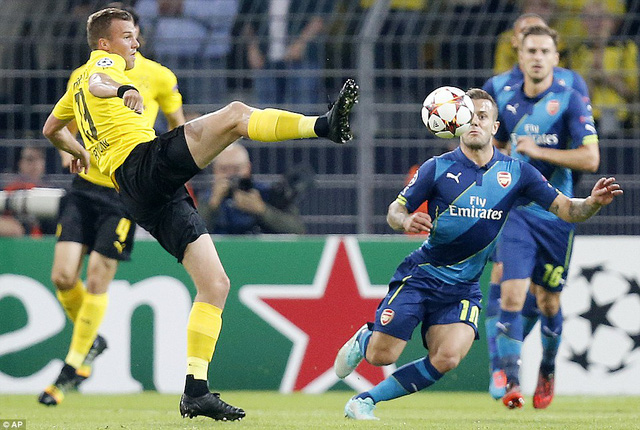 Jack Wilshere là một trong số ít các cầu thủ chơi hay của Arsenal