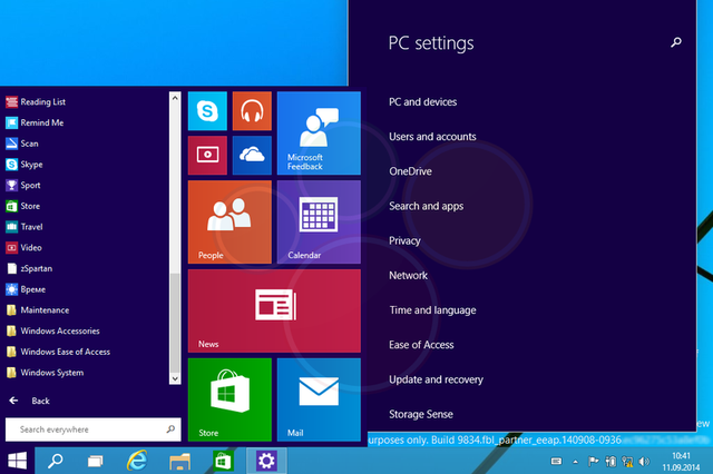 Hình ảnh rõ nét của hệ điều hành được xác nhận là Window 9