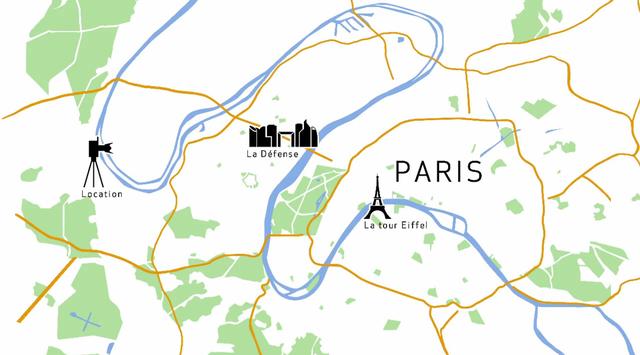 Vị trí chụp để thử nghiệm khả năng của cả biến ảnh 250 megapixel cách khá xa tháp Eiffel