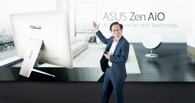 Chủ tịch tập đoàn ASUS, ông Jonney Shih  giới thiệu máy tính all-in-one Zen AiO