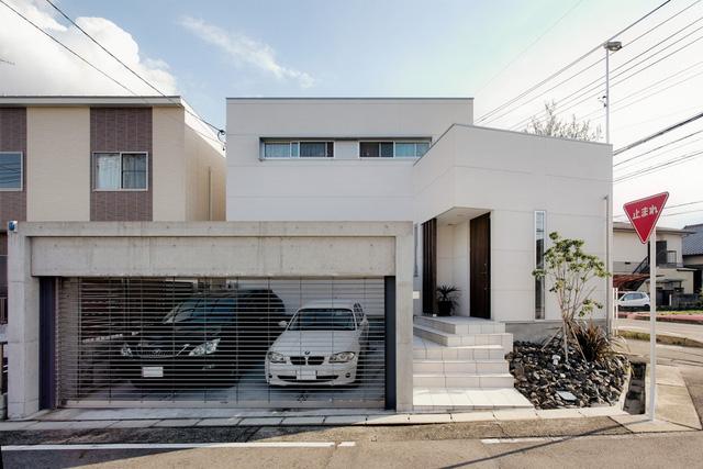 Toàn cảnh bên ngoài ngôi nhà của một gia đình nhỏ sinh sống tại thành phố Nagoya, Nhật Bản