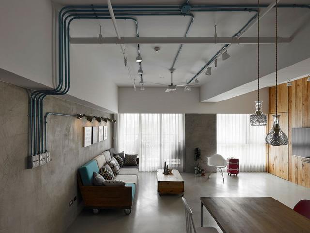 Căn hộ xinh xắn ở Đài Loan được các kiến trúc sư khoác lên một tấm áo mới với phong cách nội thất công nghiệp