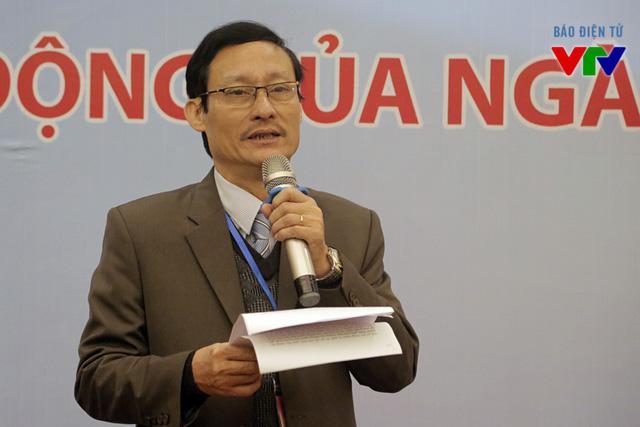 Ông Lê Khánh Hòa - Giám đốc Đài PT-TH Quảng Bình phát biểu khai mạc triển lãm ảnh