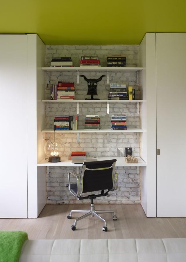 Các KTS đã tận dụng triệt để mọi không gian trong căn phòng