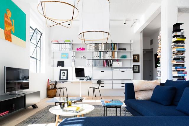 Không gian trong căn hộ luôn gọn gàng, ngăn nắp nhờ sở hữu hệ thống lưu trữ lớn