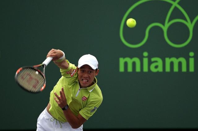 Kei Nishikori dễ dàng đi tiếp vào vòng 3 Miami Open 2015