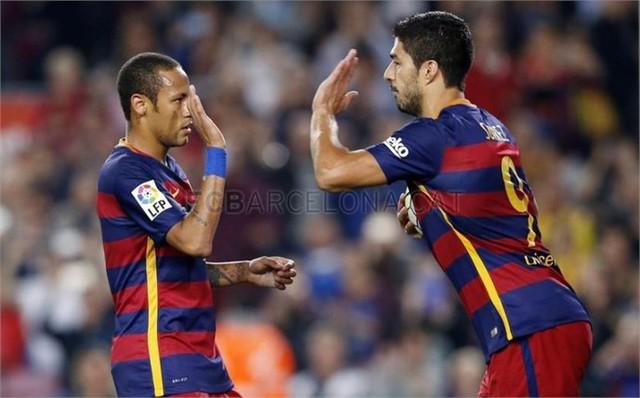 Barcelona sẽ trông chơ cả vào Neymar và Suarez khi Messi chưa thể trở lại