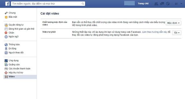 Cách tắt chế độ tự phát video của Facebook trên máy tính