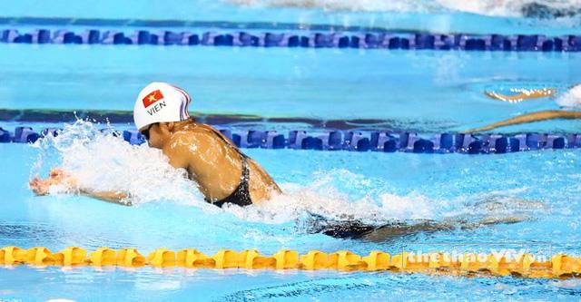 Ánh Viên tập nặng chuẩn bị cho vô địch bơi lội thế giới