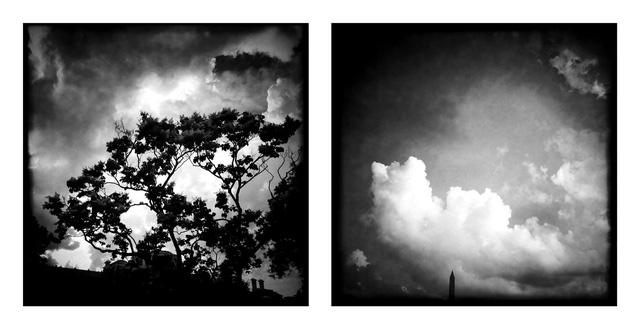 Khung cảnh bầu trời nhìn từ Nhà Trắng sử dụng ứng dụng Hipstamatic