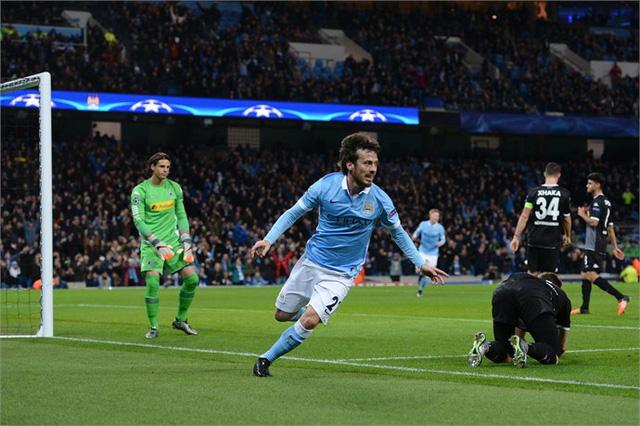 David Silva và các đồng đội sẽ tiếp đà hưng phấn từ Champions League