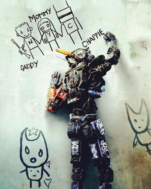 Hình ảnh nhân vật Chappie trong bộ phim cùng tên