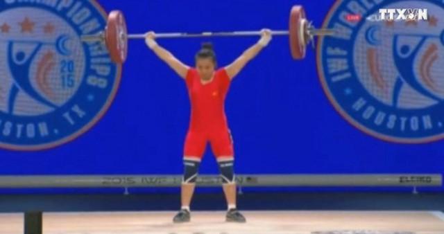 Lực sĩ Vương Thị Huyền đã xuất sắc giành 2 huy chương bạc và 1 huy chương đồng ở hạng cân 48kg nữ tại giải cử tạ vô địch thế giới 2015 diễn ra tại Houston (Mỹ).