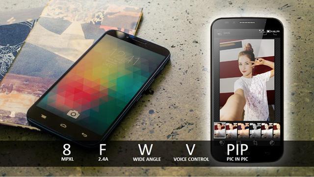 Alcatel Flash Plus sở hữu camera trước đến 8 MP (Ảnh: Zing)