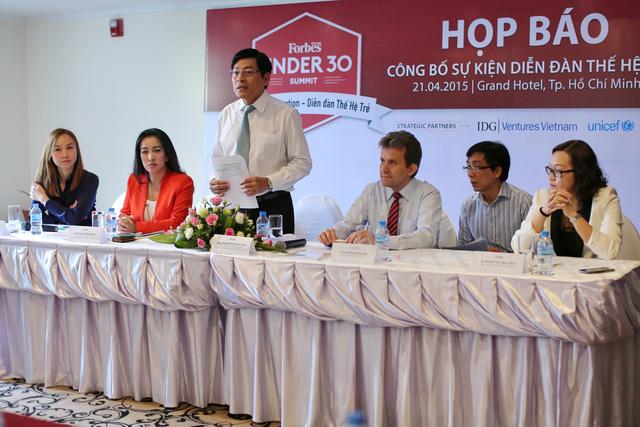 Buổi họp báo công bố chính thức sự kiện Under 30 Summit của tạp chí Forbes Việt Nam.