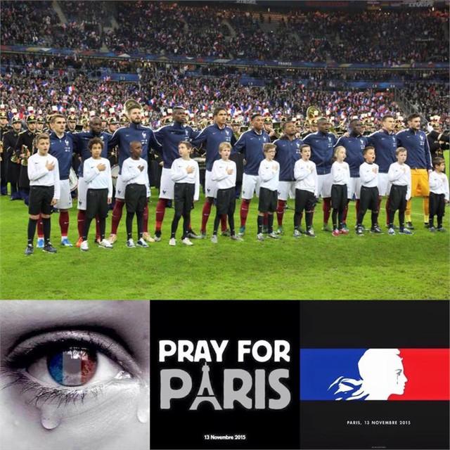 ĐT Pháp hướng đến trận đấu giao hữu với ĐT Anh với mục tiêu đoàn kết những người yêu hòa bình trên thế giới