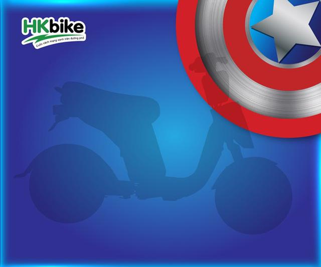 Sản phẩm mới của HKbike được lấy ý tưởng từ Captain America (ảnh: Zing)