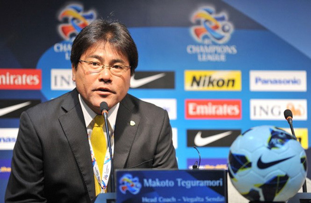 HLV Teguramori Makoto của U23 Nhật Bản - Ảnh: AFP