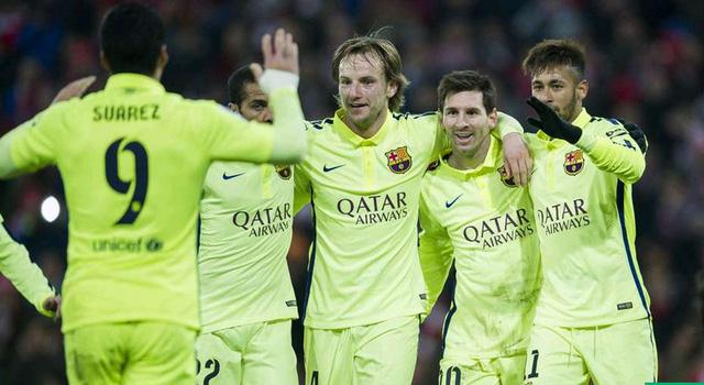 Bilbao 2-5 Barcelona: Bộ ba Messi – Suarez – Neymar (MSN) cùng khai hỏa và nhấn chìm đội chủ sân San Mames.