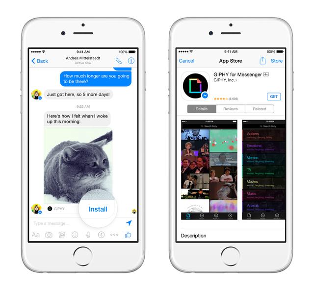 Người dùng có thể cài đặt trực tiếp ứng dụng thông qua Messenger