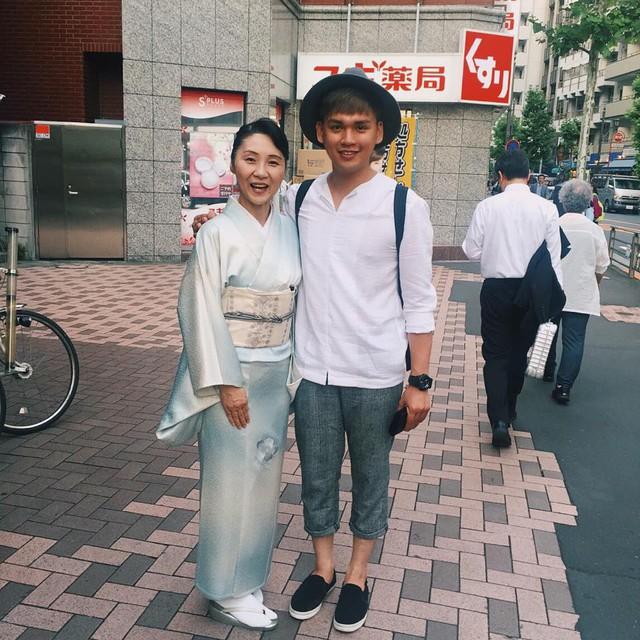 Một hình ảnh của Nguyễn Trần Trung Quân trong chuyến trải nghiệm văn hóa ở Nhật Bản (Ảnh: Facebook nhân vật)