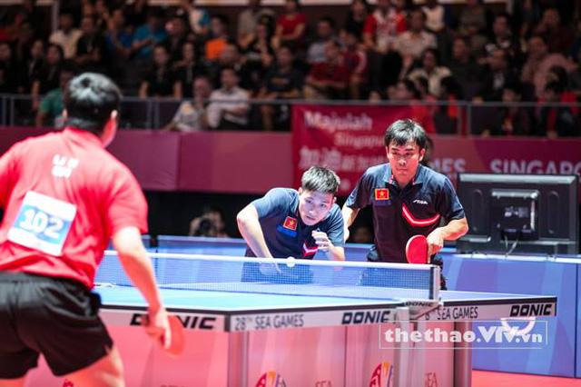 Bộ đôi Tuấn Quỳnh và Anh Tú đã không thể vượt qua cặp Gao Ning/Li Hu của nước chủ nhà Singapore