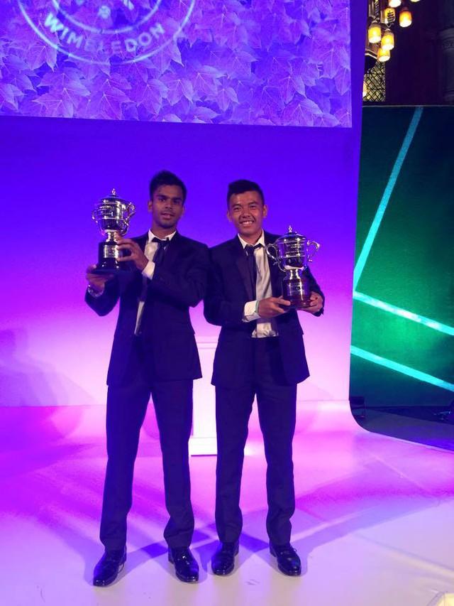 Hoàng Nam và Nagalđược vinh danh tại bữa tiệc tổng kết Wimbledon 2015