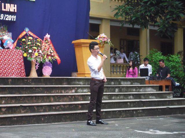 Nguyễn Tiến Hưng khi còn học THPT tại Hải Dương