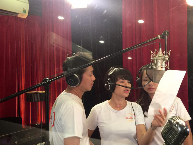 MC Anh Tuấn, Diễm Quỳnh tham gia ghi hình MV Trái tim cho em - Ảnh 3.