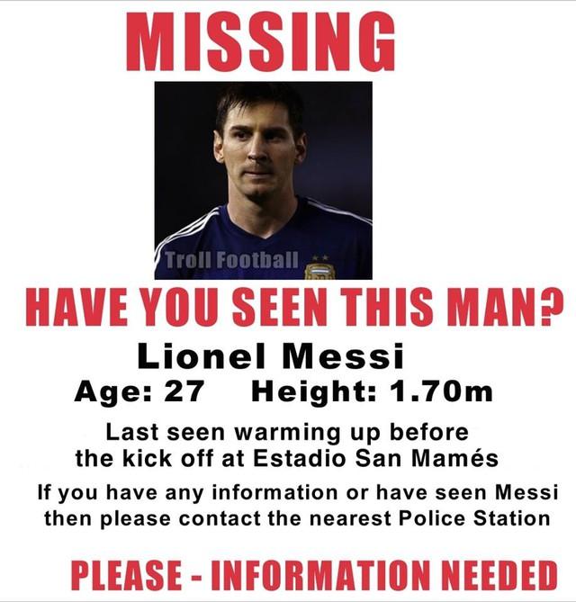 Ngôi sao sáng giá Lionel Messi cũng hoàn toàn im hơi lặng tiếng trong trận thảm bại của nhà ĐKVĐ châu Âu
