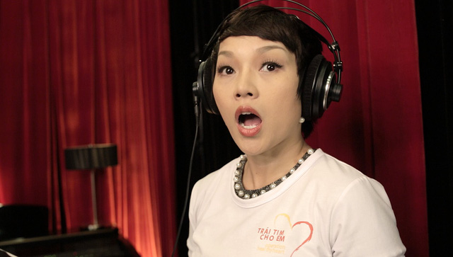 MC Anh Tuấn, Diễm Quỳnh tham gia ghi hình MV Trái tim cho em - Ảnh 7.