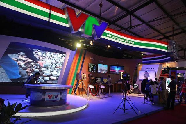Quầy hàng của Đài THVN tại Triển lãm