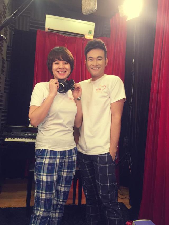MC Anh Tuấn, Diễm Quỳnh tham gia ghi hình MV Trái tim cho em - Ảnh 1.