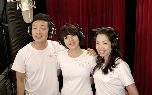 MC Anh Tuấn, Diễm Quỳnh tham gia ghi hình MV Trái tim cho em - Ảnh 2.