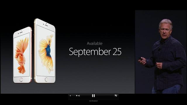 Apple chính thức bán iPhone 6S và iPhone 6S Plus từ ngày 25/9
