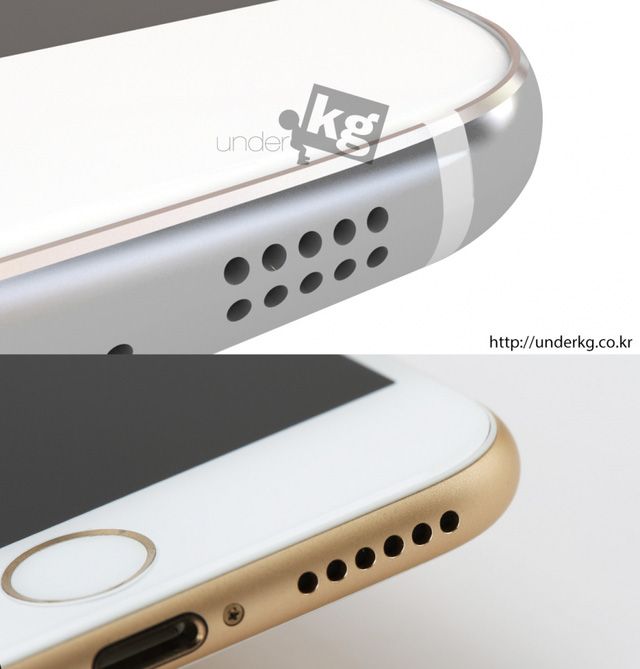 Thiết kế loa ngoài của chiếc Samsung Galaxy S6 khá giống với iPhone 6