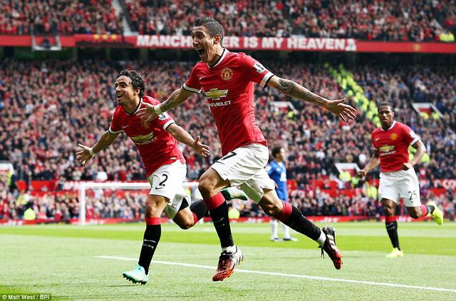 Di Maria đóng góp 1 bàn thắng trong chiến thắng 2-1 của Man Utd trước Everton tại trận lượt đi
