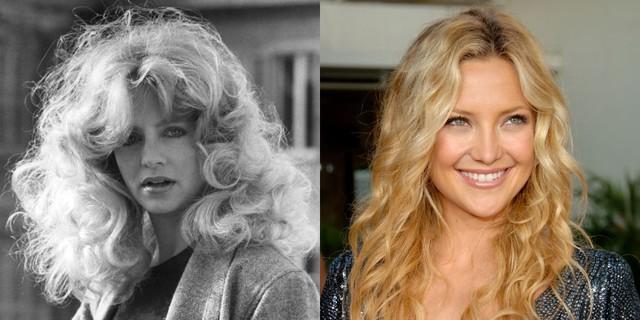 Không cần phải dùng tới kính lúp, bạn cũng nhận ra những điểm tương đồng giữa người đẹp Kate Hudson và mẹ cô Goldie Hawn