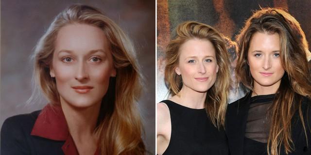 Khó ai có thể chối cãi sự tương đồng giữa ba mẹ con nữ diễn viên nổi tiếng Meryl Streep khi nhìn tấm ảnh này