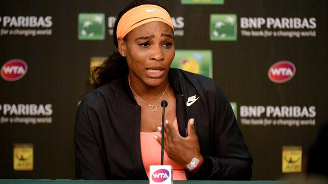 Serena Williams bất ngờ bỏ cuộc