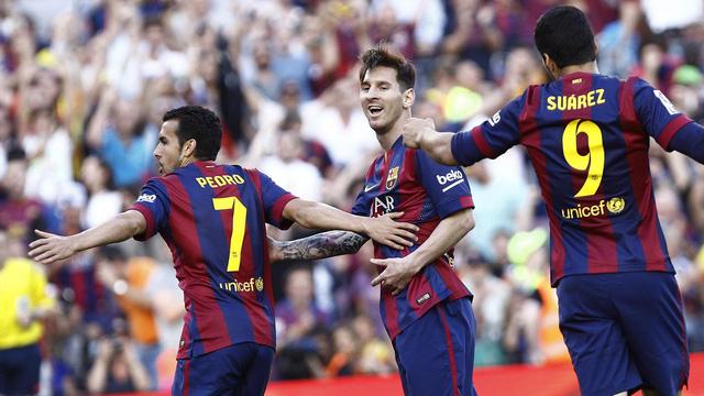 Chỉ cần thêm 1 chiến thắng nữa, Barcelona sẽ chính thức đăng quang tại La Liga 2014/15.