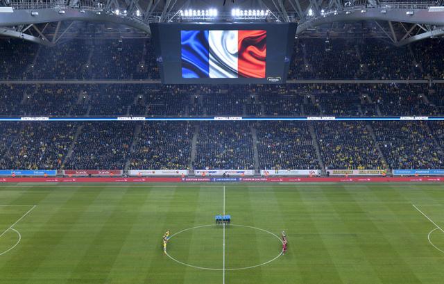 Lá cờ Pháp tung bay trên SVĐ Stockholm