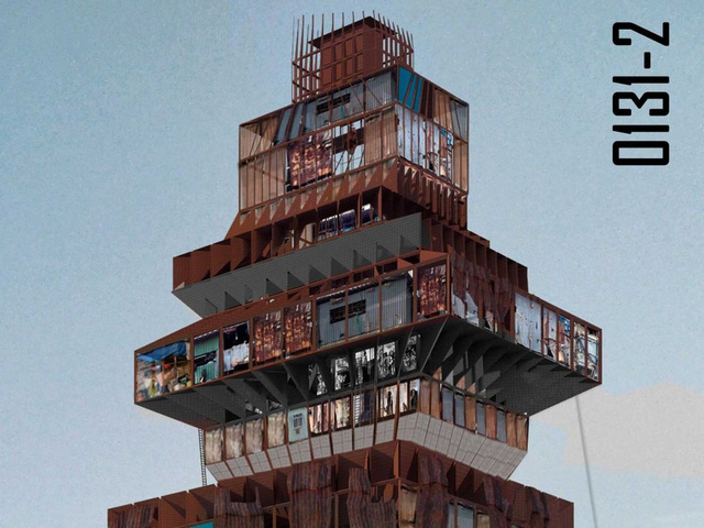 Giải nhì: Thiết kế Shanty-scraper của hai kiến trúc sư Suraksha Bhatla và Sharan Sundar, là một khu phức hợp làm việc và sinh sống dành cho những người có thu nhập thấp đang sống tại những khu ổ chuột tại Chennai, Ấn Độ
