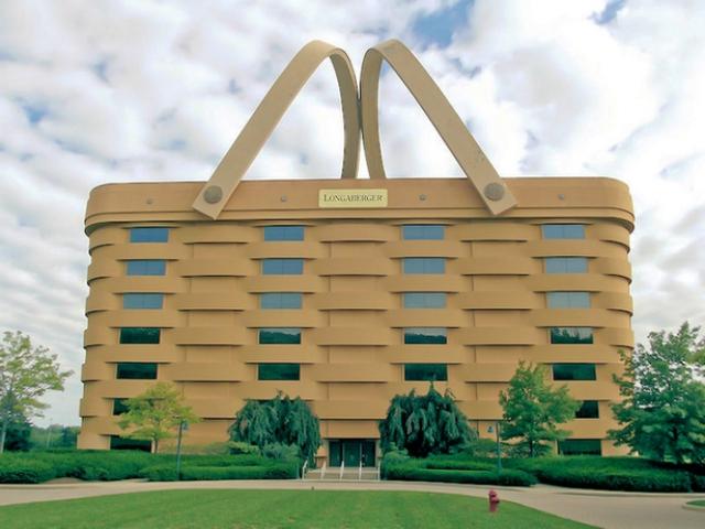 Tòa nhà Longaberger tại Ohio (Mỹ) có lẽ là một trong những công ty kinh doanh có văn phòng độc đáo nhất thế giới với tạo hình chiếc giỏ.