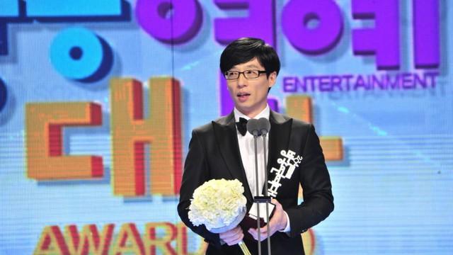 MC Yoo Jae Suk trong Lễ trao giải MBC Entertainment Awards.