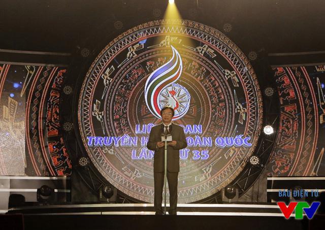 Ông Phạm Việt Tiến - Phó Tổng Giám đốc Đài THVN, Chủ tịch LHTHTQ 35 - phát biểu khép lại LHTHTQ 35