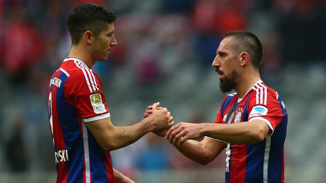 Khả năng ra sân của Ribery và Lewandowski vẫn còn đang được để ngỏ