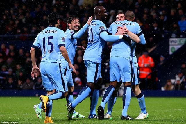 Man City đã đánh bại West Bromwich tại trận lượt đi